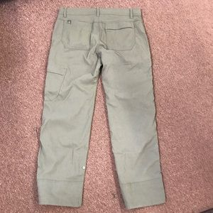 Prana Stretch Zion Pants Olive Green Med Waist 30L